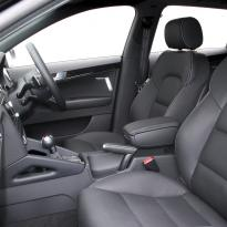 Audi rs3 sportback black leather with silver stitching 002