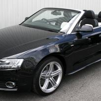Audi a5 cab s-line black  white leather 001