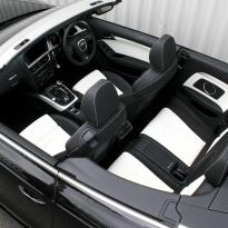 Audi a5 cab s-line black  white leather 003