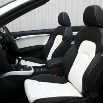 Audi a5 cab s-line black  white leather 004