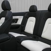 Audi a5 cab s-line black  white leather 006