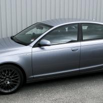 Audi a6 saloon s-line tl black leather with white stitching 001