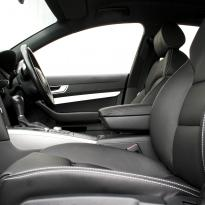 Audi a6 saloon s-line tl black leather with white stitching 004