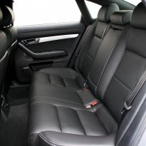 Audi a6 saloon s-line tl black leather with white stitching 005