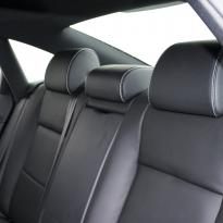 Audi a6 saloon s-line tl black leather with white stitching 006