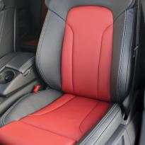 Audi q7 s-line 7 seat black leather with red inserts  silver stitching 002