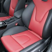 Audi s4 saloon nl b8 black nappa leather with dark red nappa inserts 003