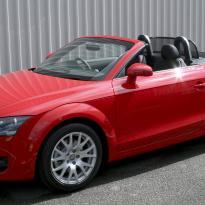 Audi tt roadster nl black leather red stitching 001