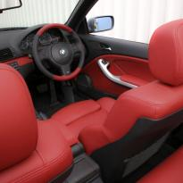 Bmw e46 cab m sport coral red leather 005