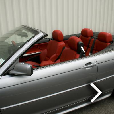 Bmw e46 cab m sport coral red leather thumbnail