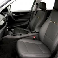 Bmw e84 x1 se black leather with yellow piping 002