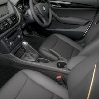 Bmw e84 x1 se black leather with yellow piping 003