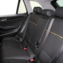 Bmw e84 x1 se black leather with yellow piping 004