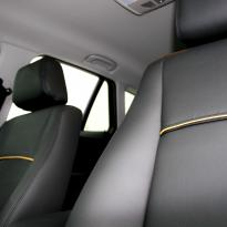 Bmw e84 x1 se black leather with yellow piping 008