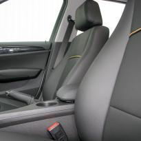 Bmw e84 x1 se black leather with yellow piping 009
