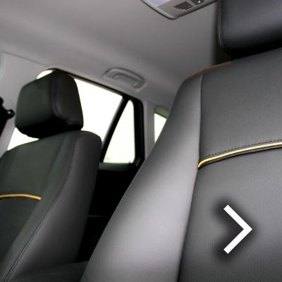 Bmw e84 x1 se black leather with yellow piping thumbnail