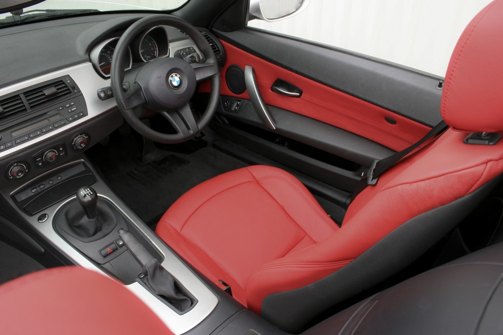 Bmw E85 Z4 Roadster Se Red Leather Trim Technik