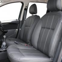 Dacia duster ambience black leather with silver stitching 003