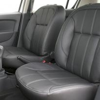 Dacia sandero stepway black leather with silver stitching 003