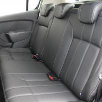 Dacia sandero stepway black leather with silver stitching 004