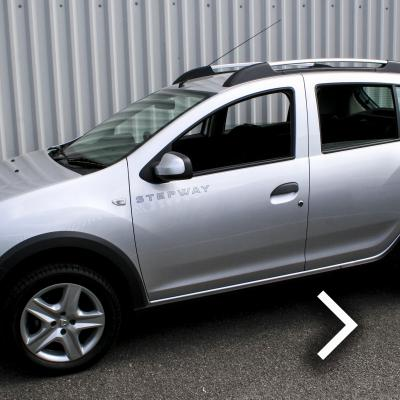 Dacia sandero stepway black with silver stitching thumbnail