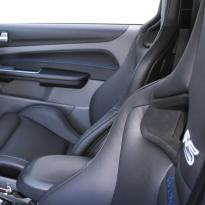 Ford focus rs black leather with blue stitching 005