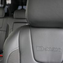 Isuzu dmax blade black leather with fabric inner wings  silver stitching 007