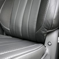 Isuzu dmax blade black leather with fabric inner wings  silver stitching 015