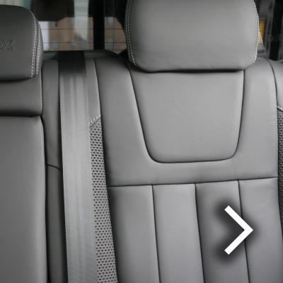 Isuzu dmax blade black with fabric inner wings  silver stitching thumbnail