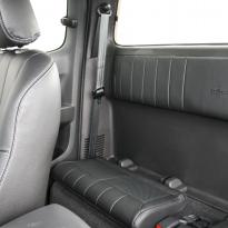 Isuzu dmax yukon extended cab black leather with white stitching 10