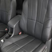 Isuzu dmax yukon extended cab black leather with white stitching 3
