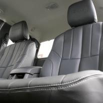 Isuzu dmax yukon extended cab black leather with white stitching 4