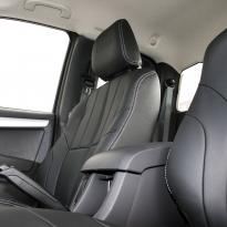 Isuzu dmax yukon extended cab black leather with white stitching 5