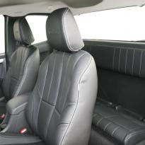 Isuzu dmax yukon extended cab black leather with white stitching 6