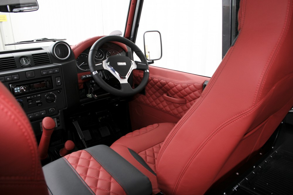 land rover defender leather seats automotive leather specialists trim technik. Black Bedroom Furniture Sets. Home Design Ideas