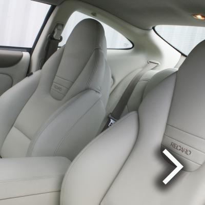 Jaguar xjr coupe ivory nappa leather with beige stitching thumbnail