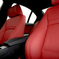 Bmw e90 saloon m sport dakota koral red leather 010