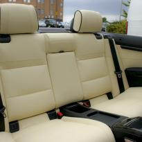 Bmw e93 cab sport champayne nappa with black piping 003