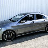 Merc 117 cla 45 amg black nappa with portland grey quilted sections 001