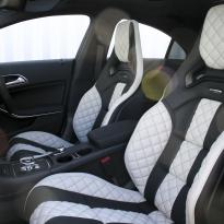Merc 117 cla 45 amg black nappa with portland grey quilted sections 004