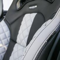 Merc 117 cla 45 amg black nappa with portland grey quilted sections 007