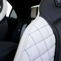 Merc 117 cla 45 amg black nappa with portland grey quilted sections 008