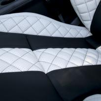Merc 117 cla 45 amg black nappa with portland grey quilted sections 009