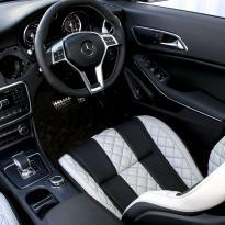 Merc 117 cla 45 amg black nappa with portland grey quilted sections 013