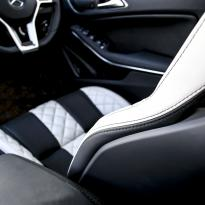 Merc 117 cla 45 amg black nappa with portland grey quilted sections 014