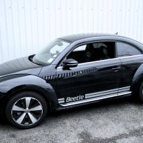 Vw beetle sport black with silver stitching 001