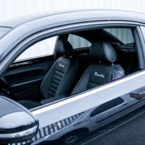 Vw beetle sport black with silver stitching 002