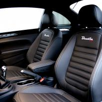 Vw beetle sport black with silver stitching 004