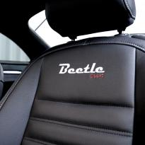 Vw beetle sport black with silver stitching 006
