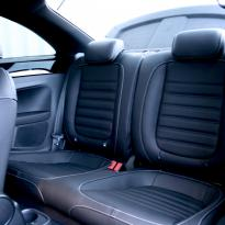 Vw beetle sport black with silver stitching 008